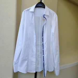 Eterna Modern Classic White Long Slv Shirt NWOT